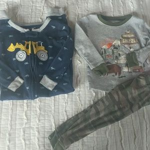 Carter's cotton pajamas lot toddler boy 2t 2018